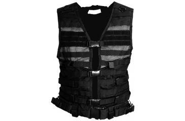 NcStar MOLLE/PALS Tactical Vest, Hydration System Compatible, Black