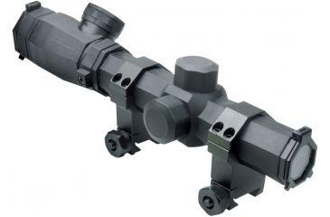 NcSTAR Octagon Scope Series-1.1-4x20 Scope, Black, 1.1-4X20 SOCTP11420G