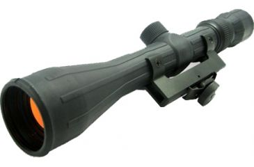 NcSTAR Regular 3-9x40 Riflescope w/Rubber Coating, Ruby Lenses & AR Mount SFRAQ3940R