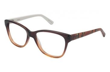 Nicole Miller Albany Single Vision Prescription Eyeglasses - Frame BROWN FADE, Size 52/16mm NMALBANY01