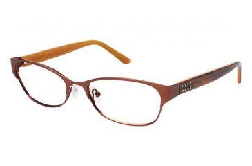Nicole Miller ANN Progressive Prescription Eyeglasses - Frame Brown, Size 52/16mm NMANN02