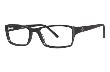 Nicole Miller Barrow Bifocal Prescription Eyeglasses - Frame Matte Black/Black, Size 52/16mm NMBARROW01