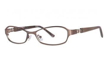 Nicole Miller Barrow Bifocal Prescription Eyeglasses - Frame Matte Chocolate Brown/Brown, Size 52/16mm NMBARROW02