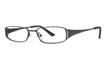 Nicole Miller Bayard Eyeglass Frames - Frame Matte Black, Size 50/16mm NMBAYARD01