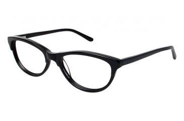 Nicole Miller Bedford Single Vision Prescription Eyeglasses - Frame BLACK, Size 53/17mm NMBEDFORD01