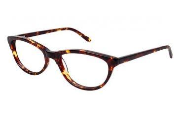 Nicole Miller Bedford Single Vision Prescription Eyeglasses - Frame TORTOISE, Size 53/17mm NMBEDFORD02