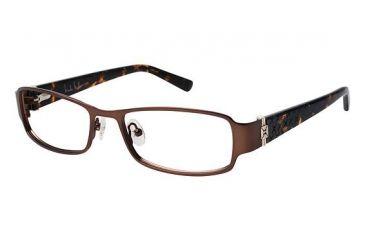 Nicole Miller BENSON Progressive Prescription Eyeglasses - Frame BROWN/TORTOISE, Size 52/17mm NMBENSON02