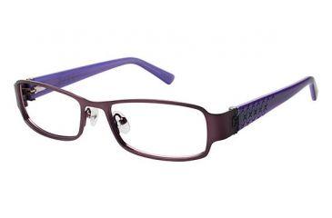 Nicole Miller BENSON Progressive Prescription Eyeglasses - Frame PURPLE/DRK PURPLE, Size 52/17mm NMBENSON03