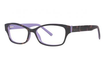 Nicole Miller Bleeker Single Vision Prescription Eyeglasses - Frame Tortoise, Size 54/15mm NMBLEEKER02