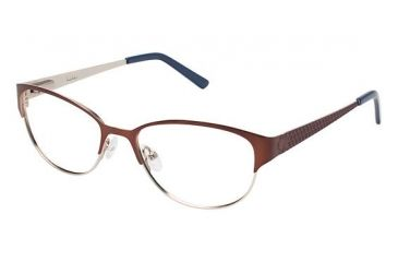 Nicole Miller BOND Bifocal Prescription Eyeglasses - Frame Brown, Size 51/16mm NMBOND01