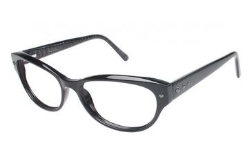 Nicole Miller Broad Single Vision Prescription Eyeglasses - Frame Black, Size 54/16mm NMBROAD01