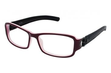 Nicole Miller Canal Bifocal Prescription Eyeglasses - Frame BURGUNDY/BLACK, Size 51/15mm NMCANAL02