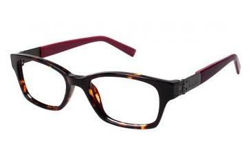 Nicole Miller Centre Progressive Prescription Eyeglasses - Frame TORTOISE/BURGUNDY/PINK, Size 50/16mm NMCENTRE03