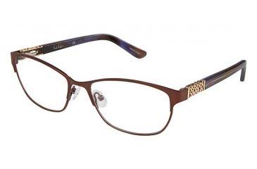9777d62cd46 Nicole Miller Chestnut Eyeglass Frames - Frame Matte Brown