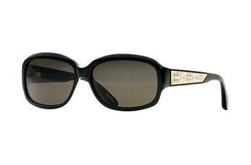 Nicole Miller Collection NL Fondue SENL FOND06 Single Vision Prescription Sunglasses SENL FOND065835 BK - Lens Diameter: 54 mm, Frame Color: Caviar, Lens Diameter: 58 mm