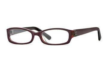 Nicole Miller Collection NL Wine Not SENL WINE00 Single Vision Prescription Eyewear - Blackberry SENL WINE005040 BK