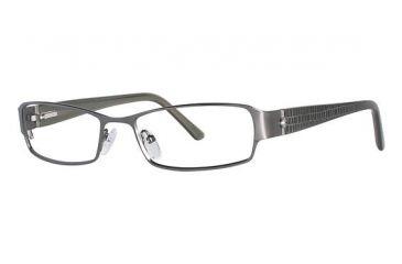 Nicole Miller Cornelia Eyeglass Frames - Frame Matte Dark Gun/Olive, Size 53/17mm NMCORNELIA01