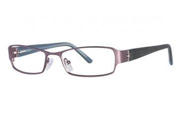Nicole Miller Cornelia Eyeglass Frames - Frame Matte Light Purple/Navy, Size 53/17mm NMCORNELIA03