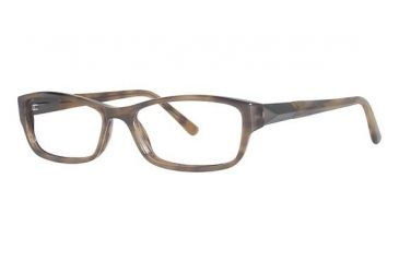 Nicole Miller Crosby Bifocal Prescription Eyeglasses - Frame Brown Horn, Size 55/15mm NMCROSBY02