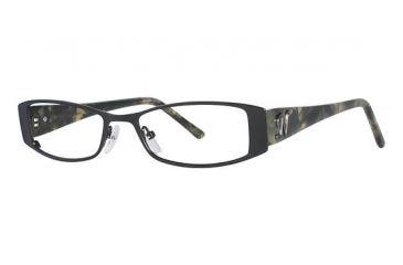 Nicole Miller Greenwich Eyeglass Frames - Frame MatteBlack/Olive Tortoise, Size 51/17mm NMGREENWICH01