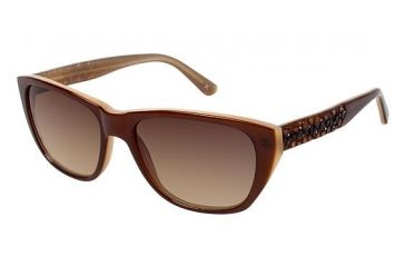 Nicole Miller HOLLAND Sunglasses - Frame Amber, Size 53/16mm NMHOLLAND02
