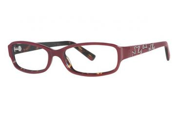 Nicole Miller Houston Single Vision Prescription Eyeglasses - Frame Burgundy, Size 52/15mm NMHOUSTON03