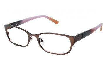 Nicole Miller Jane Bifocal Prescription Eyeglasses - Frame Matte Chocolate Brown, Size 52/17mm NMJANE02