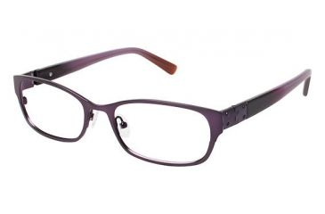 Nicole Miller Jane Bifocal Prescription Eyeglasses - Frame Matte Eggplant, Size 52/17mm NMJANE03