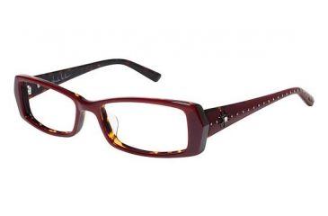 Nicole Miller MERCER Progressive Prescription Eyeglasses - Frame Burgundy/Tortoise, Size 51/16mm NMMERCER01