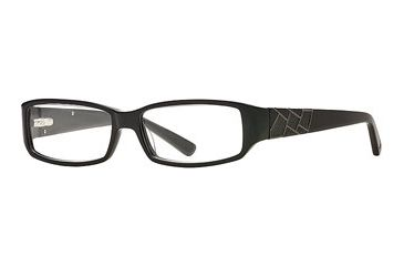 Nicole Miller Synthes-Eyes SENM SYNT00 Eyeglass Frames - Black SENM SYNT005435 BK