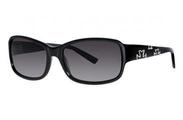 Nicole Miller Thompson Sunglasses - Frame Black, Lens Color Black Gradient NMTHOMPSON01