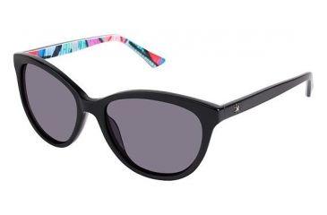 6b802e3fbdf14 Nicole Miller Wooster Progressive Prescription Sunglasses NMWOOSTER01 - Frame  Color Black Graffiti