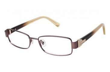 Nina Ricci NR2288CF Progressive Prescription Eyeglasses - Frame BROWN, Size 52/16mm NR2288CF02