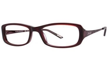 Nina Ricci NR2571F Single Vision Prescription Eyeglasses - Frame Purple, Size 53/17mm NR2571F02