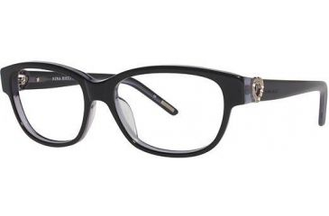 Nina Ricci NR2581 Progressive Prescription Eyeglasses - Frame Black, Size 53/15mm NR2581F01