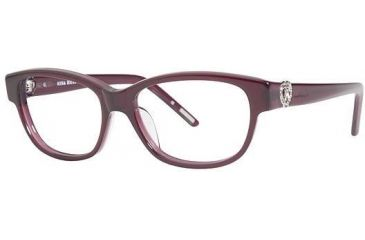Nina Ricci NR2581 Single Vision Prescription Eyeglasses - Frame Raspberry, Size 52/15mm NR2581F03