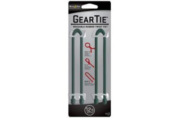 Nite Ize Gear Tie 12in Forest Green 2pk