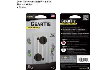 Nite Ize Gear Tie Mountables - 2in, Black/White GTU2-M1-2R7