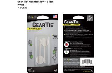 Nite Ize Gear Tie Mountables - 2in, White GTU2-02-2R7