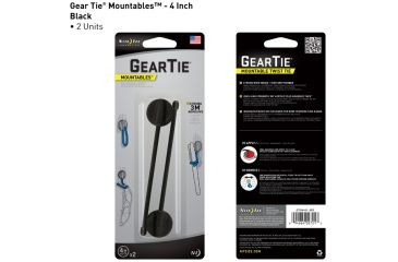 Nite Ize Gear Tie Mountables - 4in, Black GTU4-01-2R7