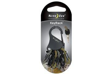 Nite Ize Key Rack - Black w/Military SBP0 KRK-03-01BG