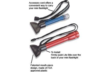 Nite Ize NLB-07 Lite Bite w/ 28 inch Accessory Cord for your Mini Flashlight