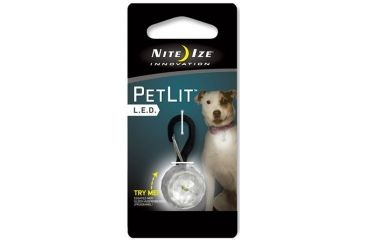 Nite Ize PetLit LED Collar Light Jewel Crystal PCL02-03-02JE