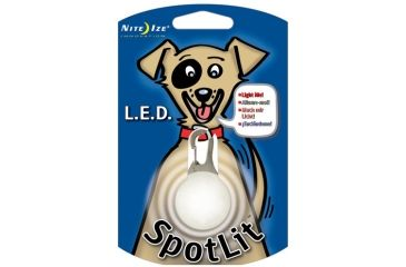 Nite Ize SpotLit LED Clip On Safety Light, White NSL-03-02