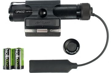 Novatac OPMOD SO120 Limited Edition Flashlight w/ Gun Mount Kit - Black