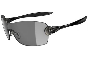 Oakley Compulsive Squared Sunglasses - Polished Black frame w/ Grey Lenses 05-358