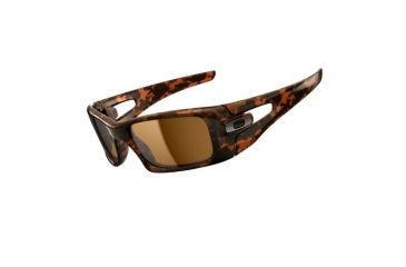 Oakley Crankcase Brown Tortoise Frame w/ Dark Bronze Lenses Men's Sunglasses OO9165-02