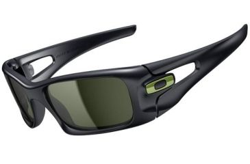 Oakley Crankcase Sunglasses - Steel Frame and Dark Grey Lens OO9165-14
