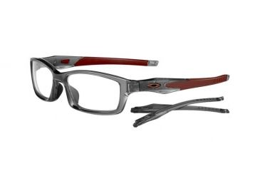 Oakley Crosslink 53mm Grey Smoke/Team Cardinal Eyeglass Frames w/ Blank Lenses OX8027-0653
