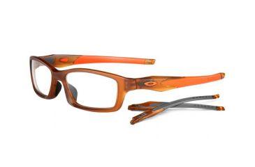 Oakley Crosslink 53mm Satin Rootbeer/Team Orange Men's Eyeglass Frames w/ Blank Lenses OX8027-0353